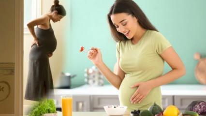 Hamilelikte bebeğe kilo aldıran besinler! Anne karnındaki bebek neden kilo almaz?