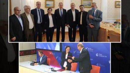 PYD, Moskova'da anlaşma imzalayıp Lavrov ile görüştü! Türkiye'den sert tepki
