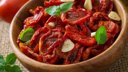 Kuru domates nasıl yapılır? Evde domates kurutmanın püf noktaları...
