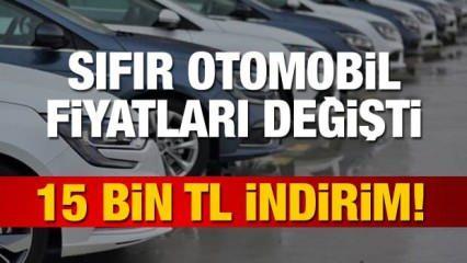 Sıfır araç fiyatları değişti! ÖTV sonrası fiyatı düşen araç modelleri! (Fiat, Toyota, Renault)