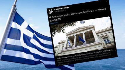 Yunanistan'dan NATO'ya yalanlama!