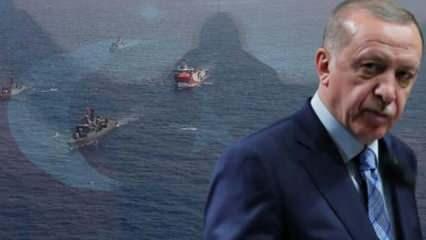 Cumhurbaşkanı Erdoğan'dan Türk savaş gemilerine Yunanistan talimatı