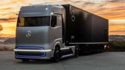 Mercedes hidrojenle çalışan TIR'ını tanıttı