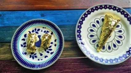 Bursa'da 24 ayar altın kaplamalı baklavanın dilimini 550 liradan satılıyor!
