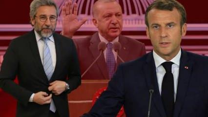 Can Dündar'ın Erdoğan üzerinden Macron açıklaması pes dedirtti