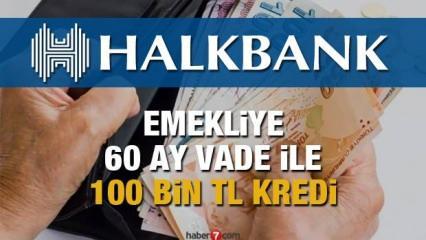 HalkBank emeklilere 100 bin TL 60 ay vade ile İhtiyaç Kredisi veriyor! Kredi başvurusu