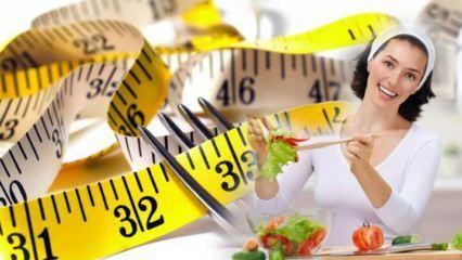 İştah kesen kolay ve kalıcı diyet listesi! Sağlıklı diyet listesi ile kilo verme