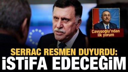 Son dakika: Libya Başbakanı Serrac istifa edeceğini duyurdu! Çavuşoğlu'ndan ilk yorum