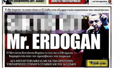 Yunan Dışişleri'nden Cumhurbaşkanı Erdoğan'a hakaret açıklaması