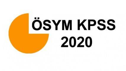 KPSS önlisans sınavı ne zaman yapılacak? 2020 ÖSYM KPSS önlisans sınav tarihi...