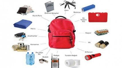 Deprem çantası nasıl hazırlanır? Deprem çantasında olması gerekenler