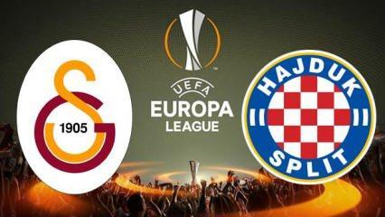 Galatasaray Hajduk Split maçı saat kaçta? UEFA Avrupa Ligi 3. ön eleme maçı hangi kanalda?