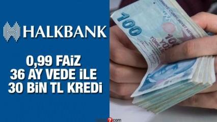 Halkbank 0,99'dan 36 ay vade ile 30 bin TL İhtiyaç kredisi veriyor! Kredi Başvuru şartları