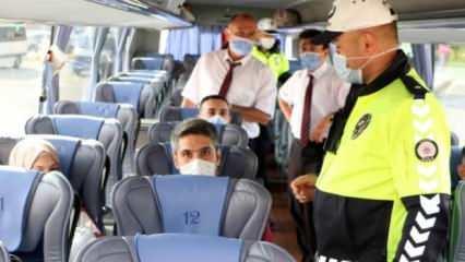 HES'i yok sayan otobüslere ceza kesildi