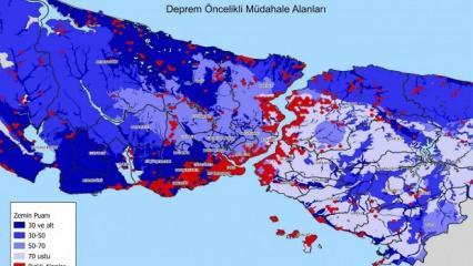 İstanbul Deprem Haritası yayınlandı! İşte en riskli bölgeler...