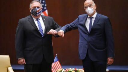 ABD Dışişleri Bakanı Pompeo Yunanistan'da mevkidaşı Dendias ile görüştü