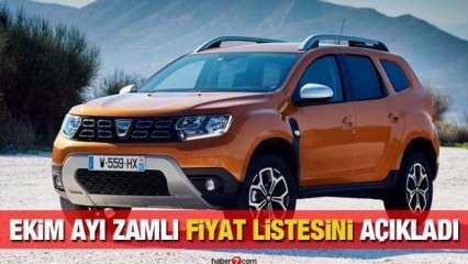 Dacia sıfır araç modelleri zamlı fiyat listesi: Duster Dacia Combi Sandero Dokker fiyatı