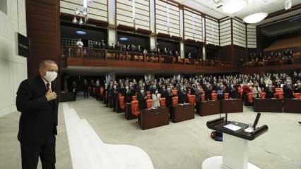 Erdoğan'dan çok önemli açıklamalar! TBMM yeni yasama yılına başladı