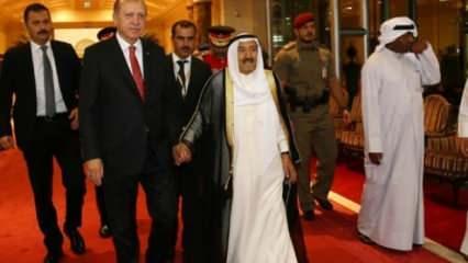 Erdoğan'dan Kuveyt Emiri ile ilgili açıklama!