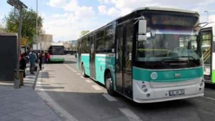 Kayseri'de toplu taşımalara ayakta yolcu alınmıyor