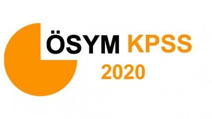 KPSS önlisans sınav giriş yerleri ne zaman açıklanır? 2020 ÖSYM KPSS önlisans sınav takvimi!