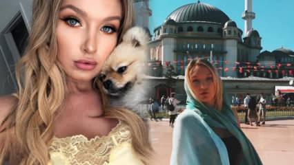 ABD'li model Trista Mikail, pandemi nedeniyle Türkiye'ye koştu