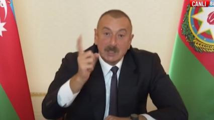 Azerbaycan gemileri yaktı! S-300'ler yok edildi! Aliyev canlı yayında ateş püskürdü