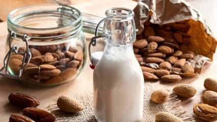 Badem sütü nasıl yapılır? Badem sütünün evde yapımı