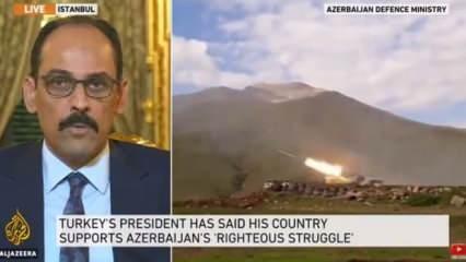 Cumhurbaşkanlığı Sözcüsü İbrahim Kalın, Al Jazeera televizyonuna konuştu!