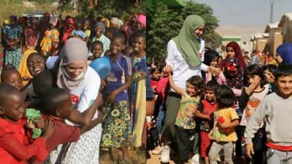 Gamze Zeynep Özçelik Sudan'daki sel felaketi bölgesine gitti!