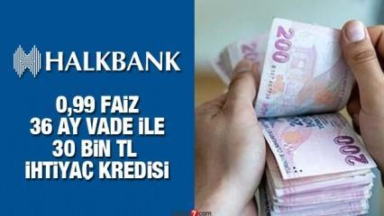 HalkBank 0,99 faiz oranları ile İhtiyaç Kredisi! Kredi başvuru ekranı!