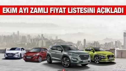 Hyundai sıfır araç modellerine zam yaptı! İşte Ekim ayı yeni Hyundai Elentra i10 Tucson fiyatı