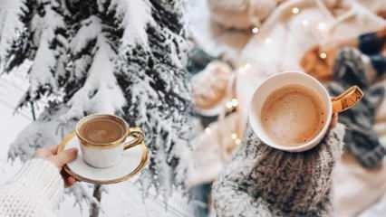 Kış aylarında içinizi ısıtacak kahve...