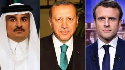 Macron'un Erdoğan talebine Katar Emiri'nden bomba cevap: Yapamam! O, ölene kadar benim babamdır