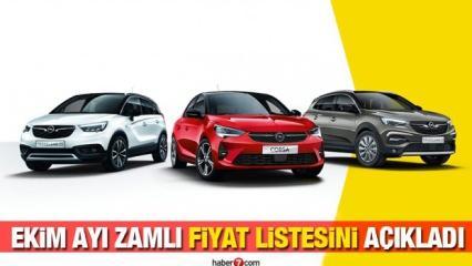 Opel Ekim ayında araçlarına zam yaptı! İşte yeni Corsa Astra Combo Insıgnıa fiyatları