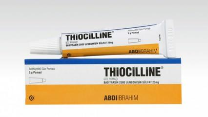 Thiocilline nedir, ne için kullanılır, ne işe yarar? Thiocilline krem 2020 fiyatı