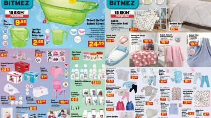 15 Ekim A101 marketlerde yer alan bebek ürünleri! A 101 kataloğunda neler var?