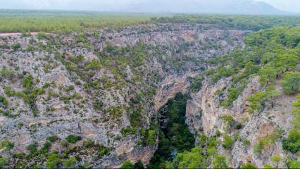 Antalya'nın sessiz güzelliği 'Güver Uçurumu'