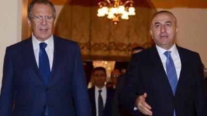 Bakan Çavuşoğlu'ndan Rusya ile kritik görüşme