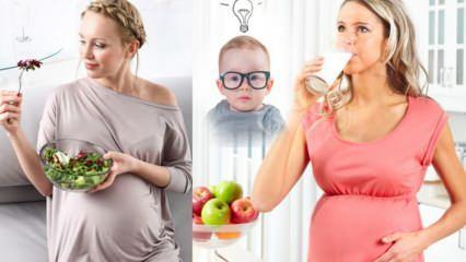 Bebeklerde zeka arttıran besinler! Hamilelikte bebeğin zeki doğması için ne yenir, ne yapılır?