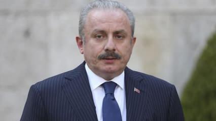 TBMM Başkanı Şentop'tan Ersin Tatar'a tebrik mesajı