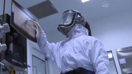 Yerli koronavirüs aşısının üretim safhaları
