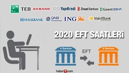 EFT saatleri: Halkbank Ziraat Garanti Akbank İş Bankası ve tüm banka 2020 EFT saatleri