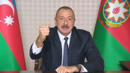 Azerbaycan ilerliyor! Aliyev'den son dakika açıklamaları