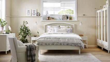 Beyaz renk ile yatak odası dekorasyonu önerileri