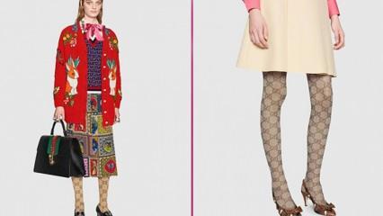 Gucci'den sezona damga vuran yırtık külotlu çorap! Gucci 2020 çorap koleksiyonu