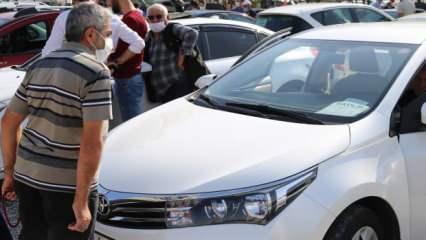 İkinci elde fiyat artışını fırsata çevirdiler! Araç sahipleri oto pazarlarına akın etti