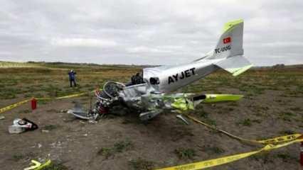 İstanbul'da düşen uçaktan kötü haber geldi