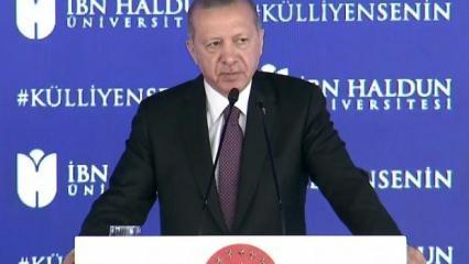 Son dakika: Cumhurbaşkanı Erdoğan'dan eğitim açıklaması: Topyekün reform gerekiyor