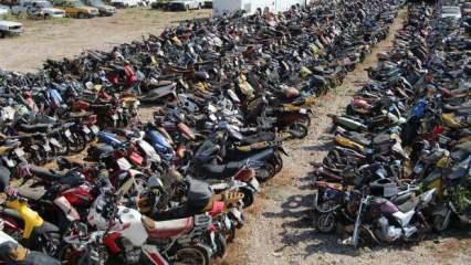Yediemin otoparkları otomobil ve motosiklet mezarlığına döndü